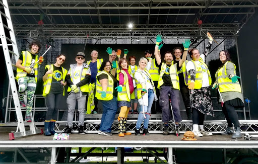 Workers on stage journey to zero waste